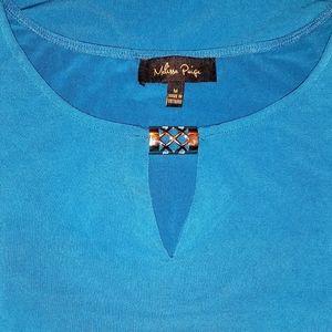 MK blue blouse